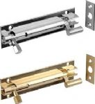 SOLID BRASS CRANKED NECKED SLIDING DOOR BOLTS IN 2 SIZE
